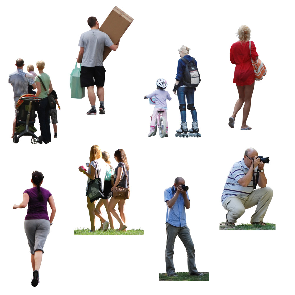 free cut out people v1 free 3d model download