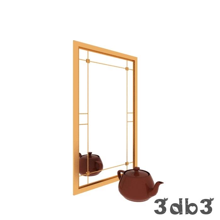 3D Golden Mirror