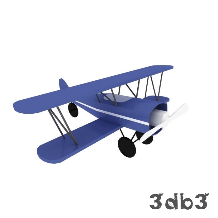 3D Toy Plane Model