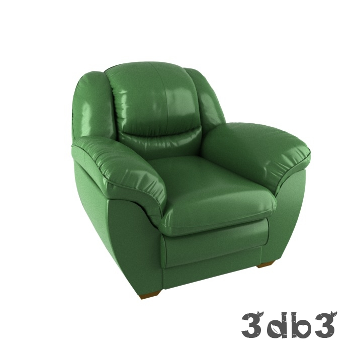 3D Model Pohjanmaan Green Arm Chair