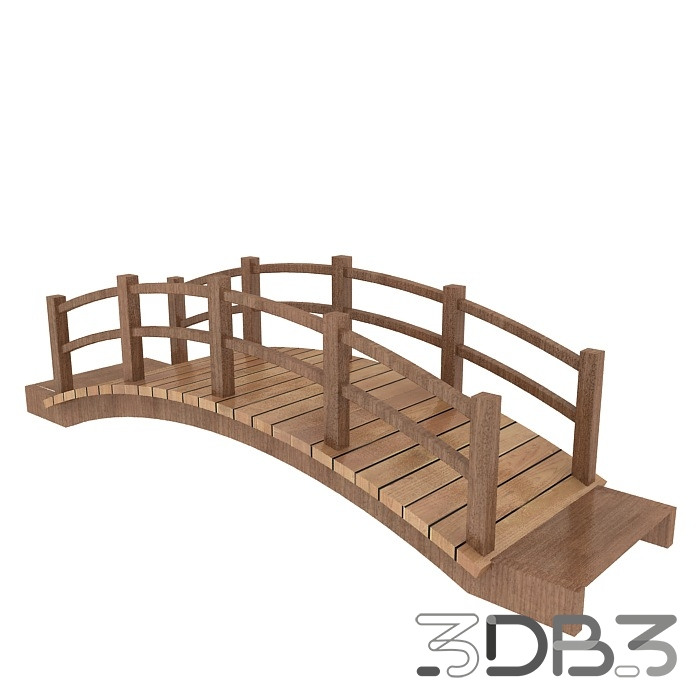 3D Wood Bridge Model - 3db3 com - Free 3D Model Download