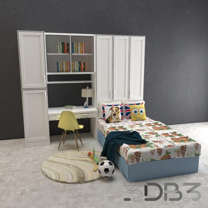 3D Childroom Bedroom Model