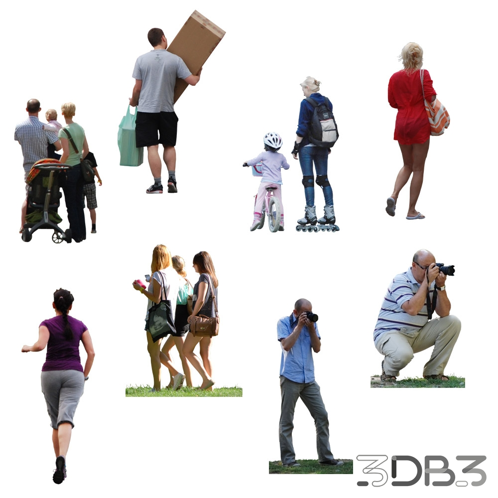 Cut Out People - 3db3 com - Free 3D Model Download