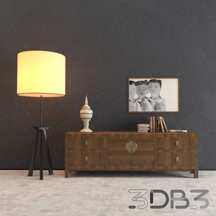 3D Chest of drawers model