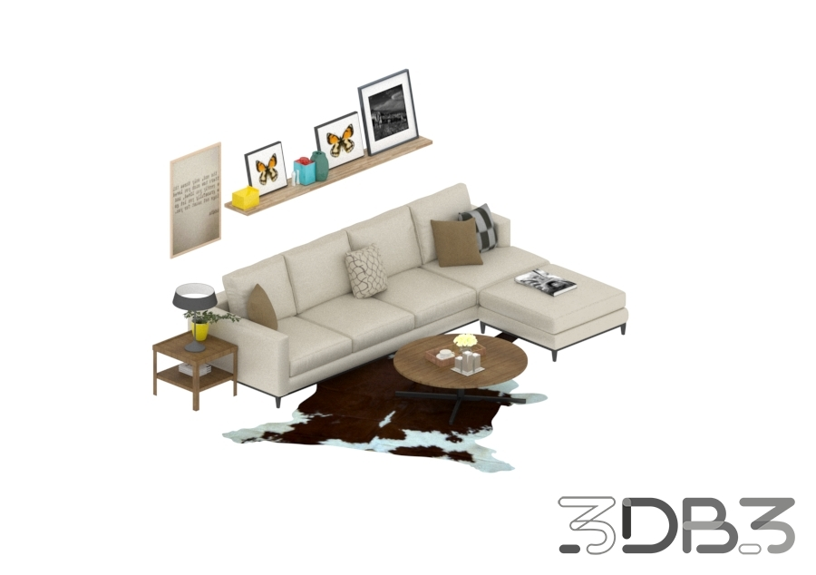 3D Living Room Model Pack
