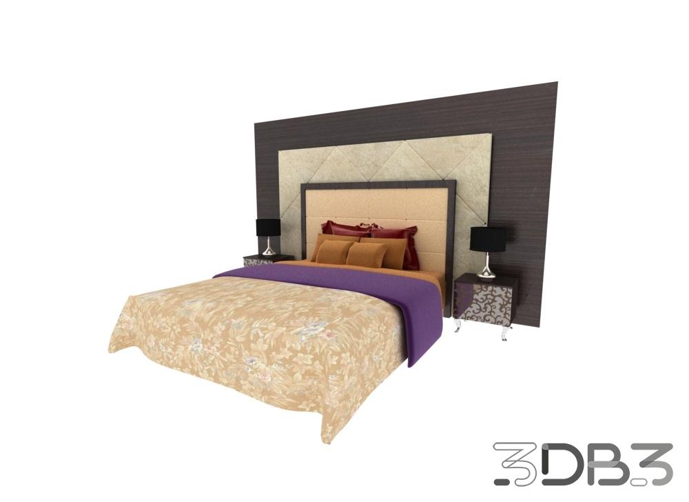 3d modern bed model 3db3.com free 3d model download
