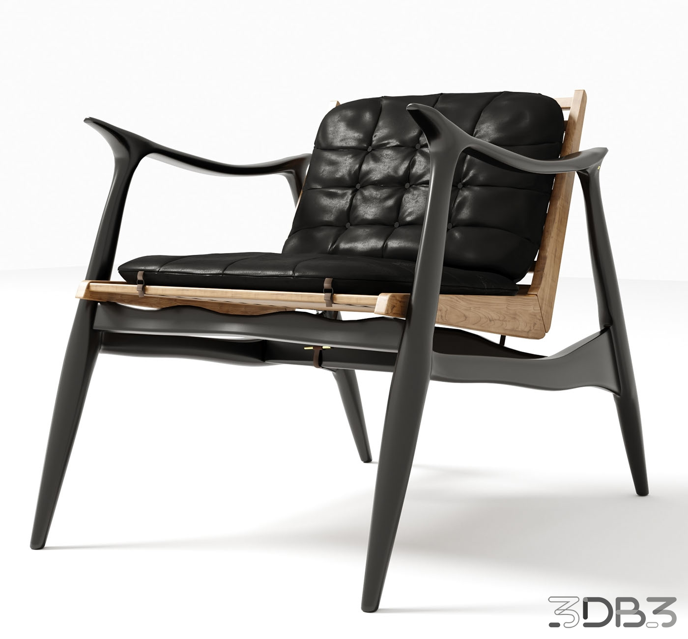 3D Atra Lounge Chair Model