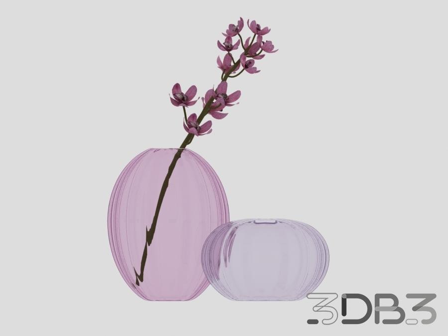 3D Flower with Vase Model