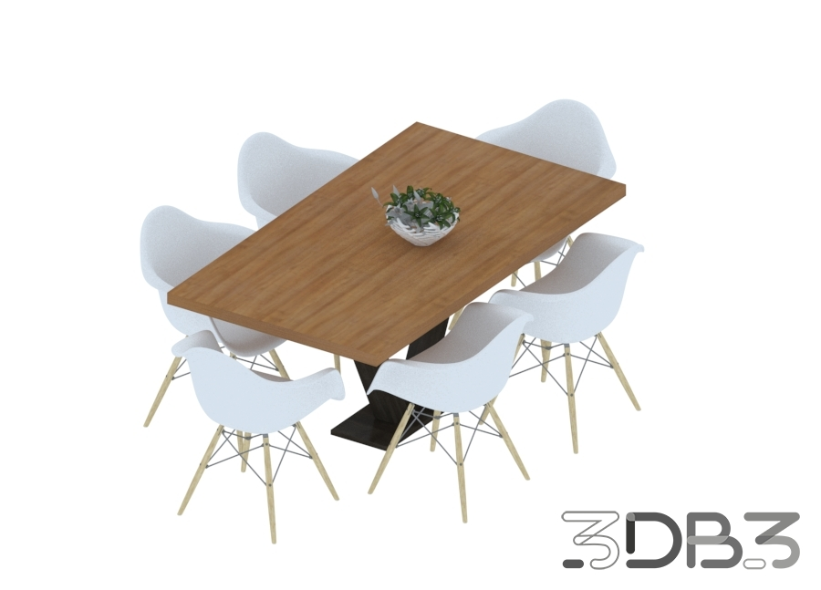 3D Dinner Table and Chair