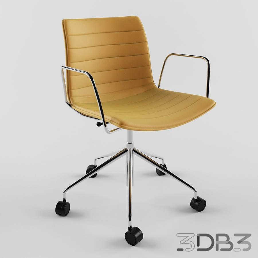 3D Catifa Swivel 5 ways Chair Model
