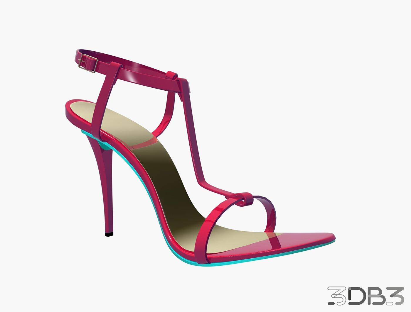 3D Women Shoe Model - 3db3 com - Free 3D Model Download