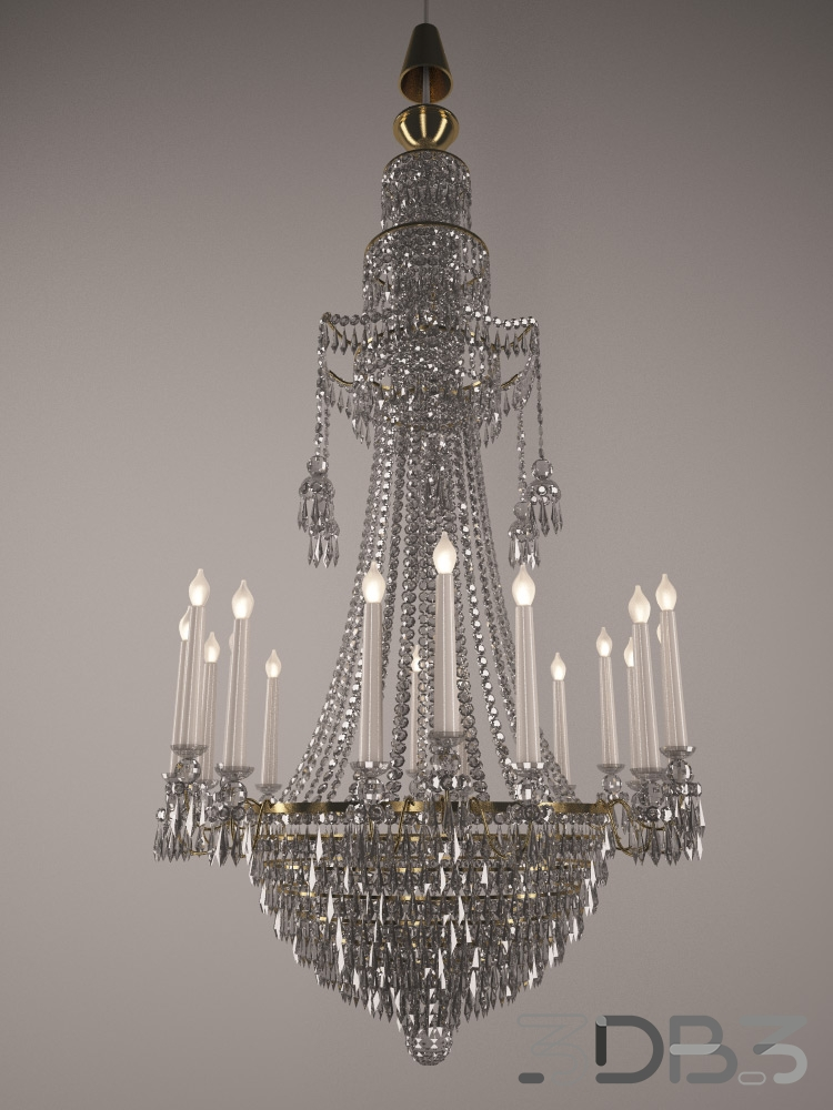 Large crystal chandelier 3db3 free 3d model download large crystal chandelier aloadofball Choice Image