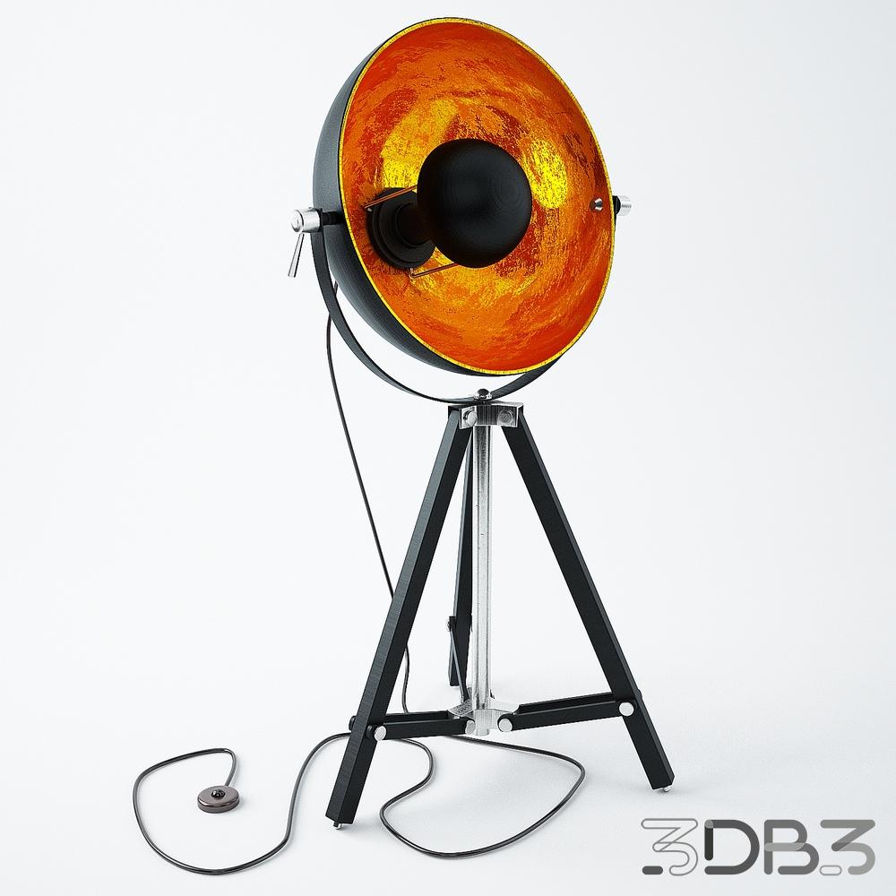 Gold Tripod Lamp