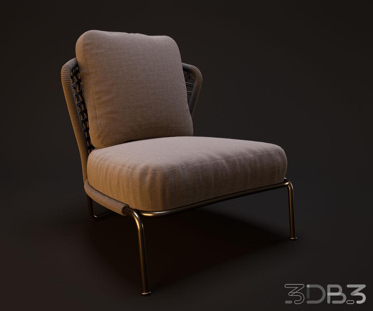 Minotti Aston exterior armchair