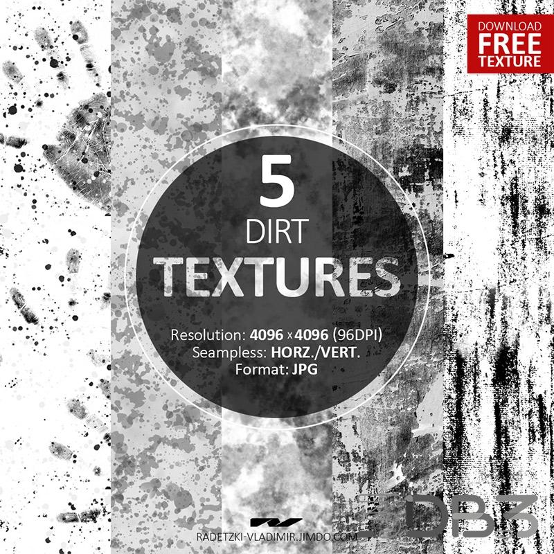 5 Seamless Dirt Textures