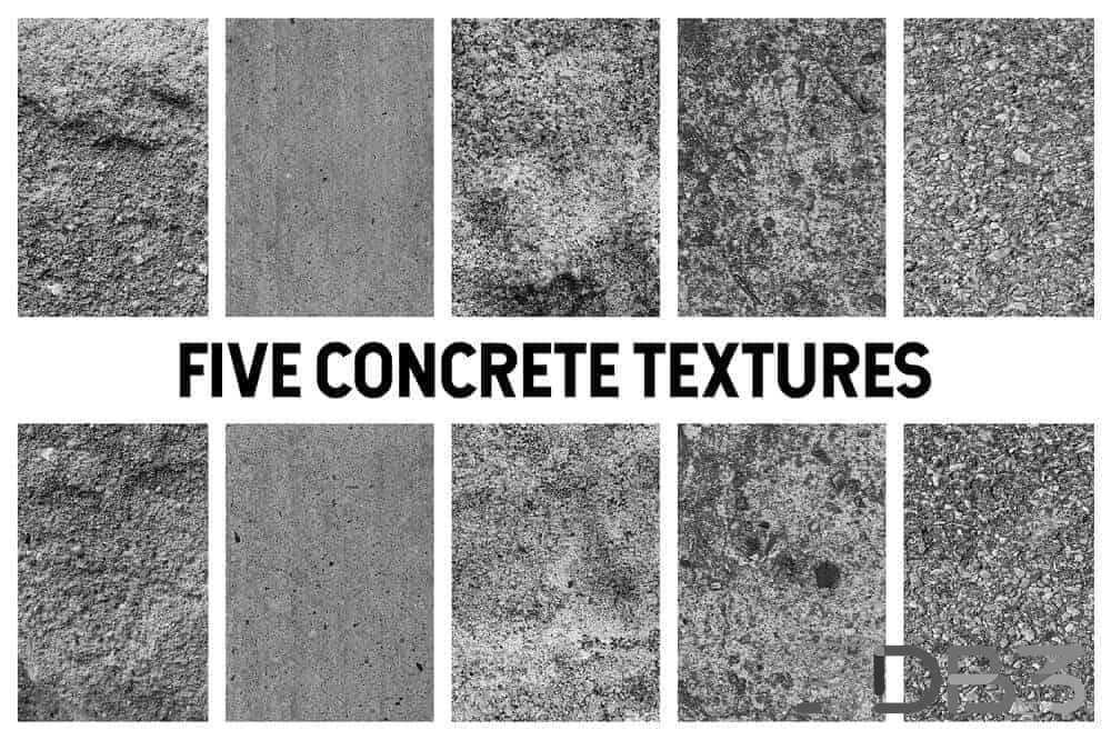 5 Concrete Texture Pack