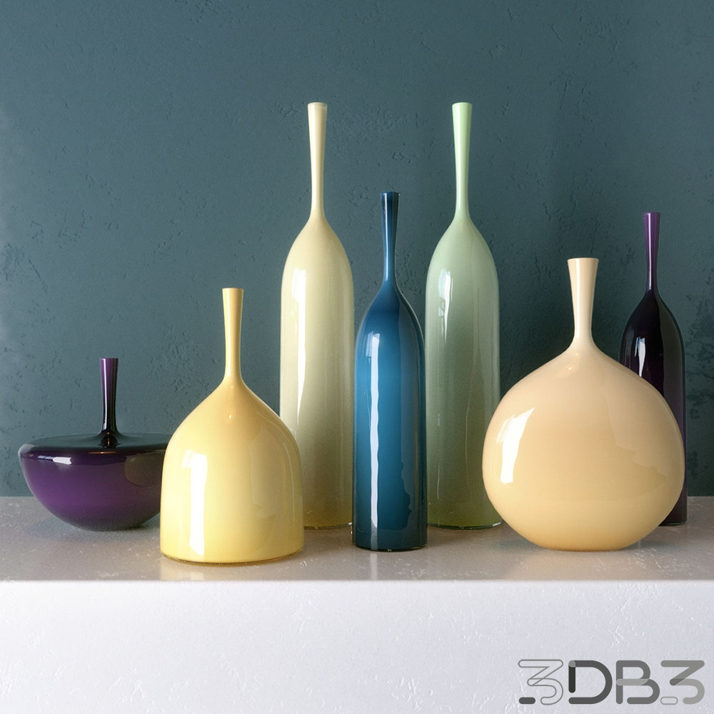 Angelik Bottle 3D Vases