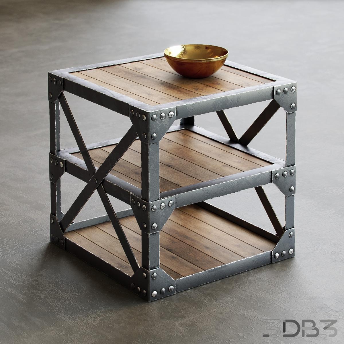 Loft table 3d model
