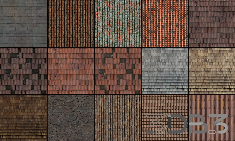 Tileable Textures Vol.9 Roof Textures
