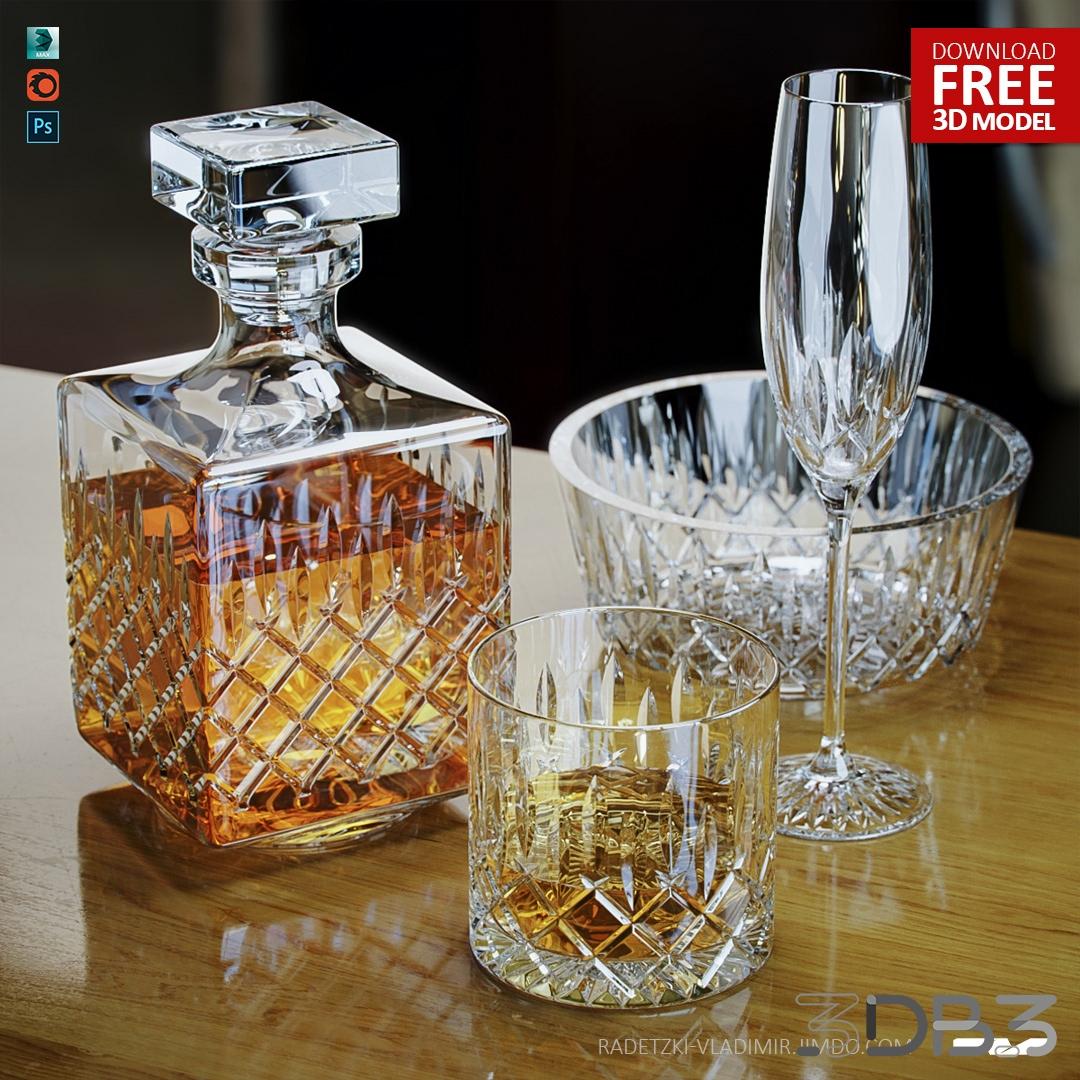 Crystal whiskey set