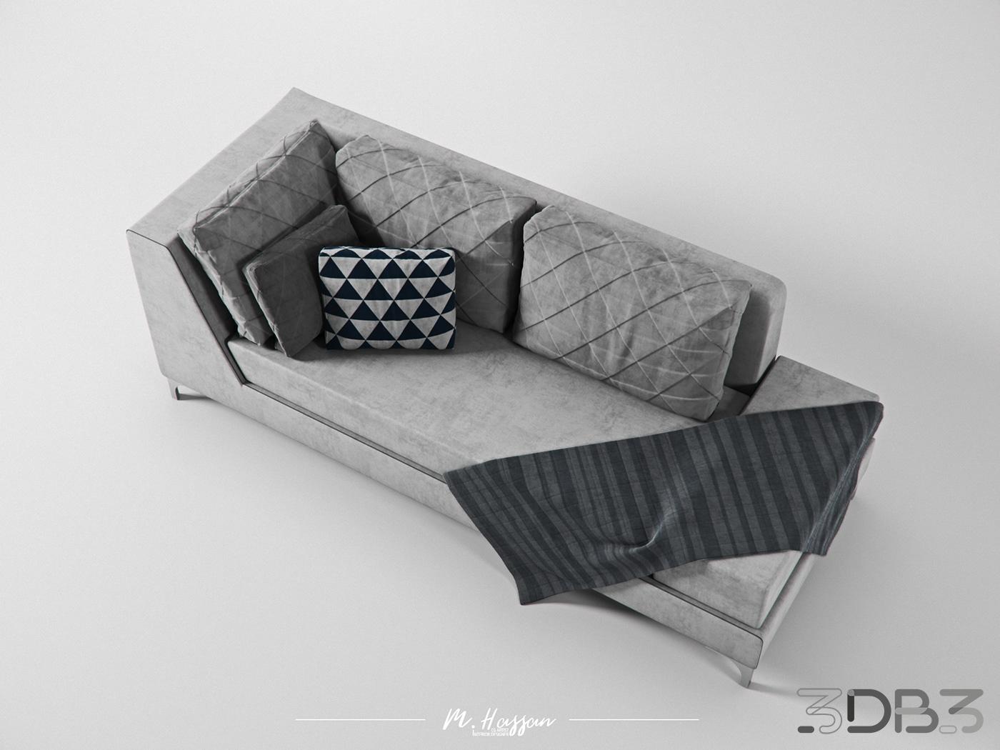 Gray Sofa Model