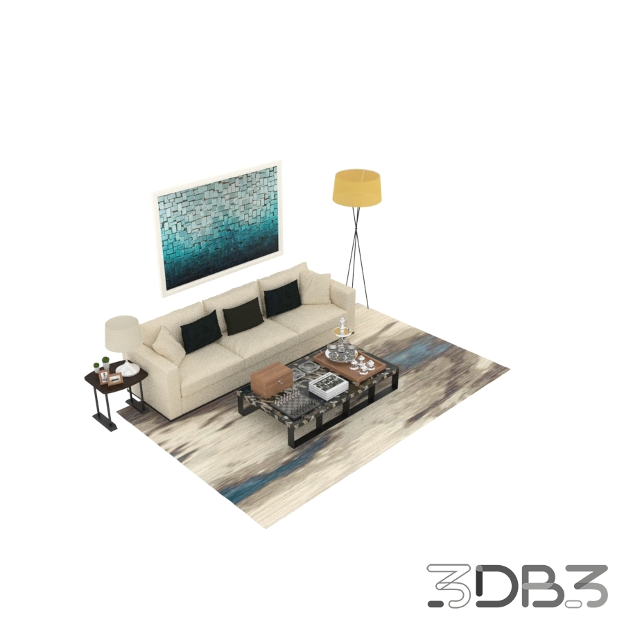 Modern interior sofa and chair model