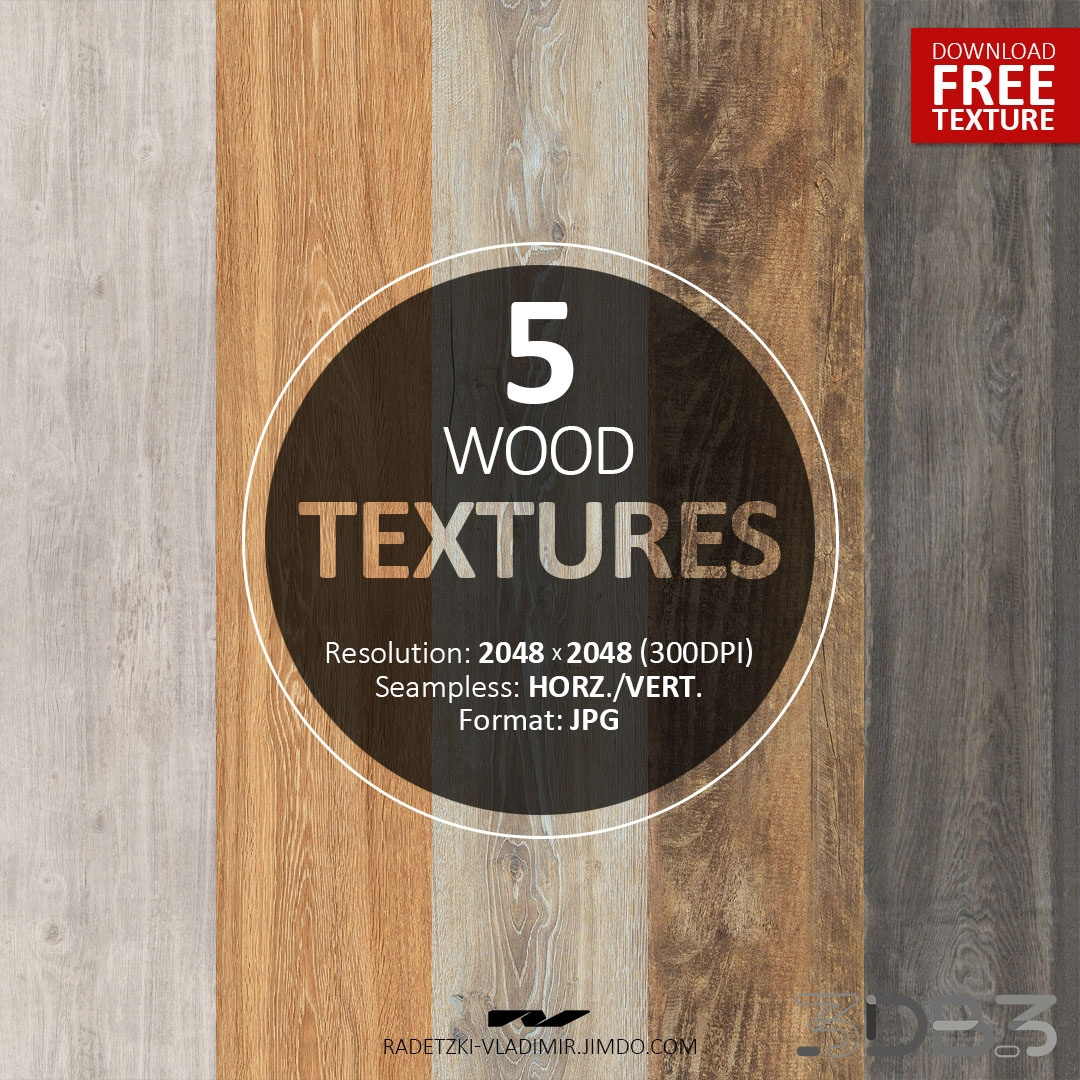 Free 5 Wood Textures