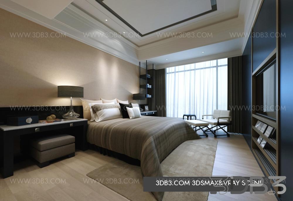 Free 3D Bedroom Scene