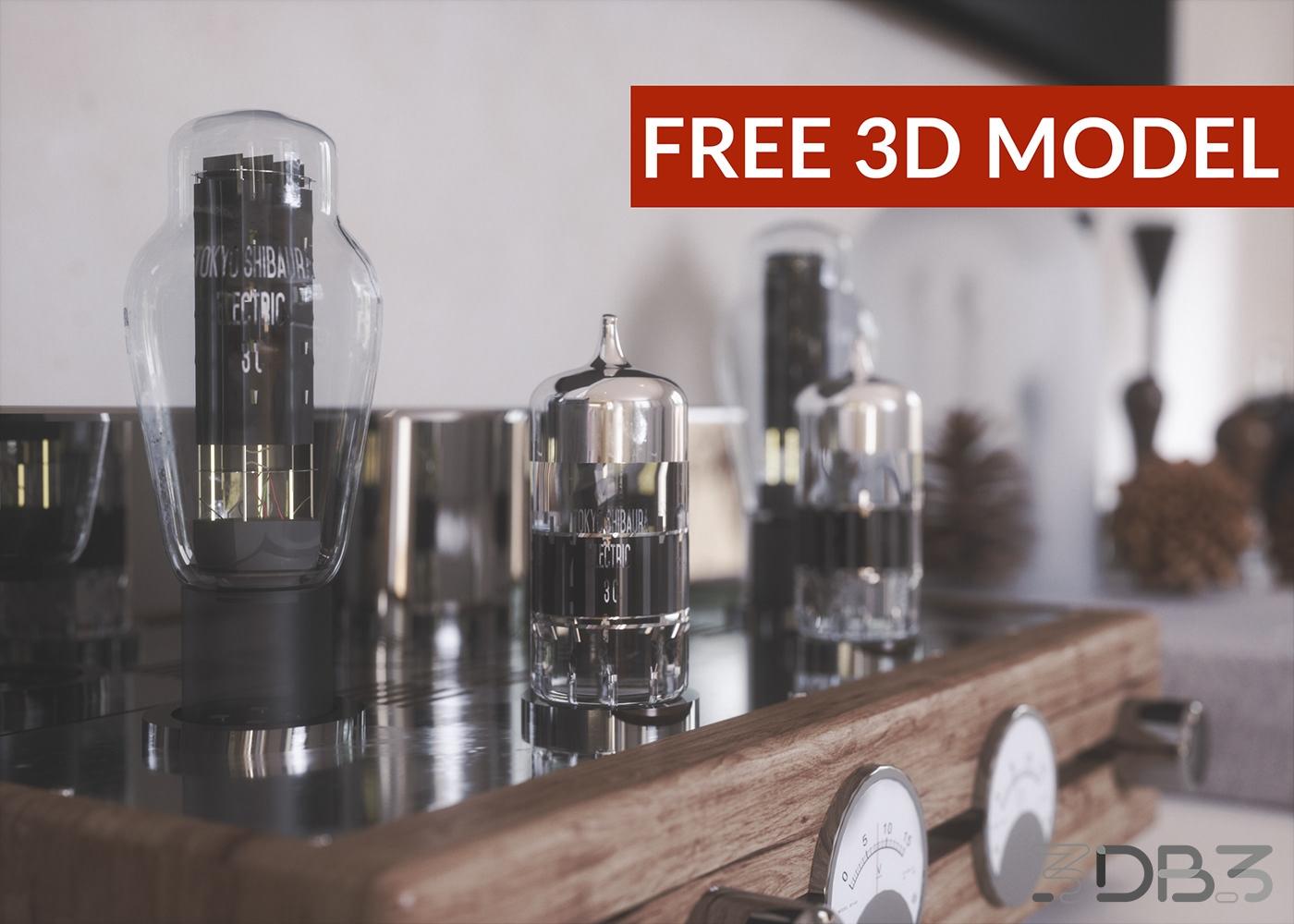 Free 3d model Tube amplifier