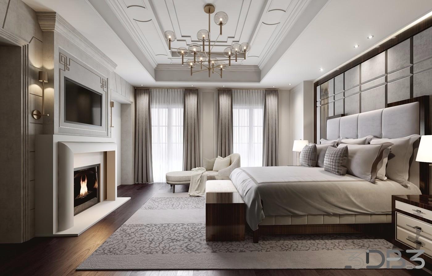 Contemporary Bedroom 3D Interior