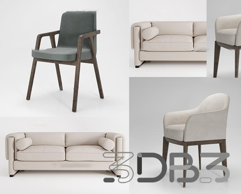 3D Sofa and Chair Models