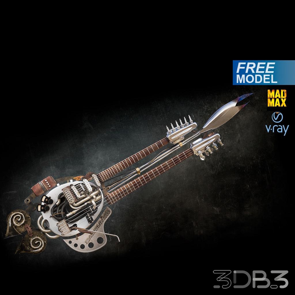 Free 3d model The Doof Warrior's Guitar