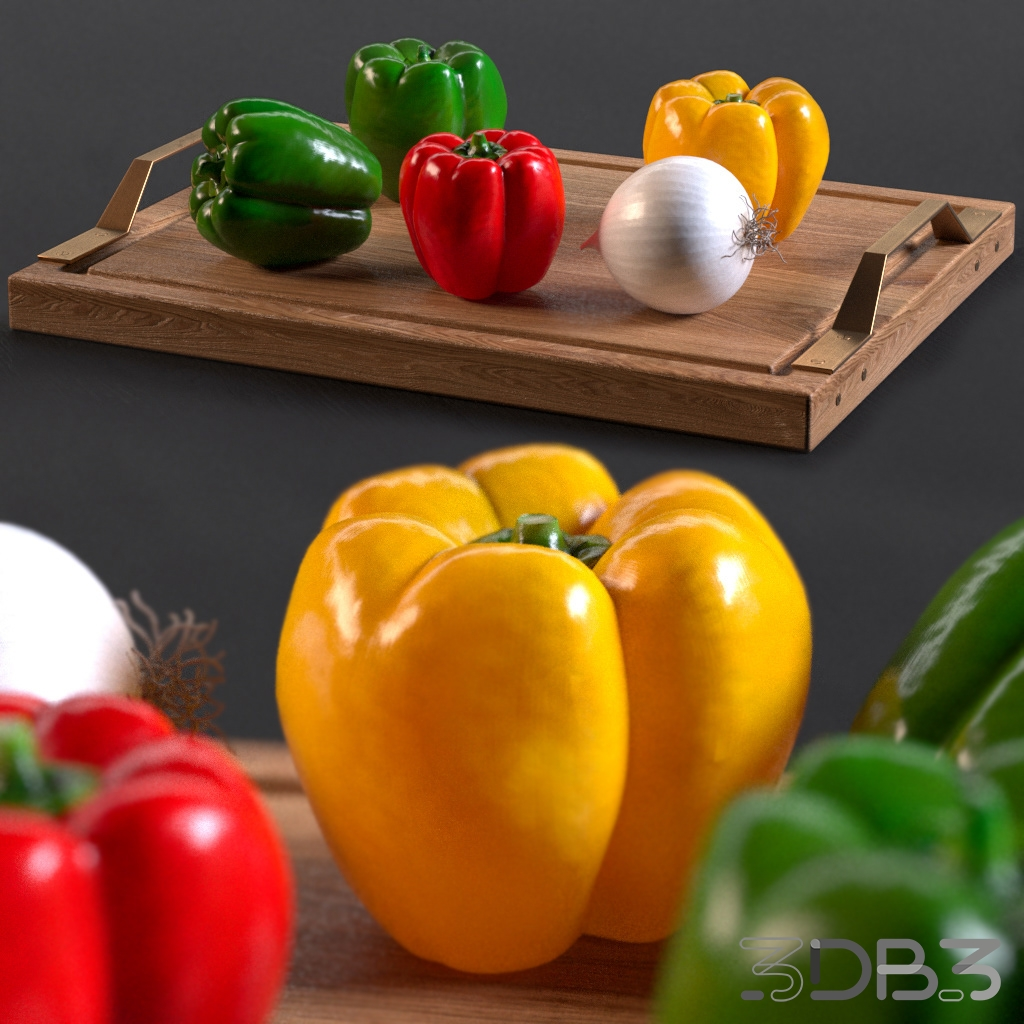Free 3d model Peppers