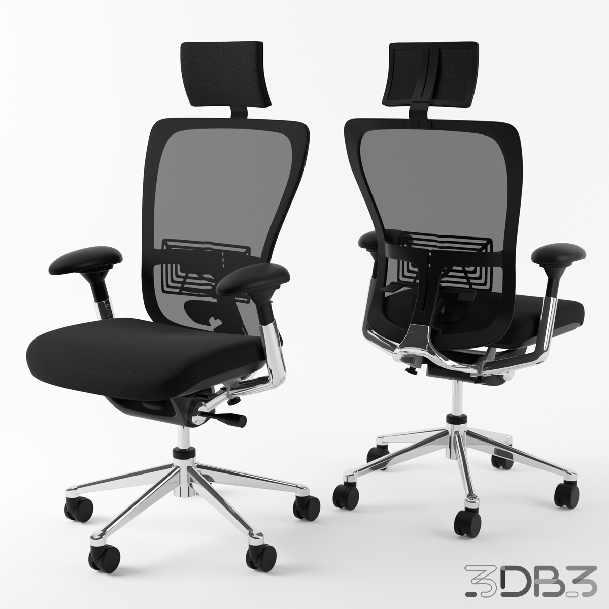 Haworth Zody Office Chair 3D Model