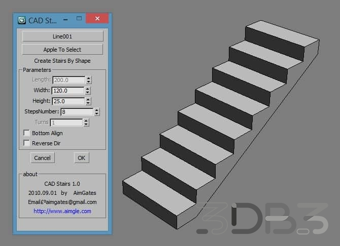 CadStair 3ds Max Stair Generator