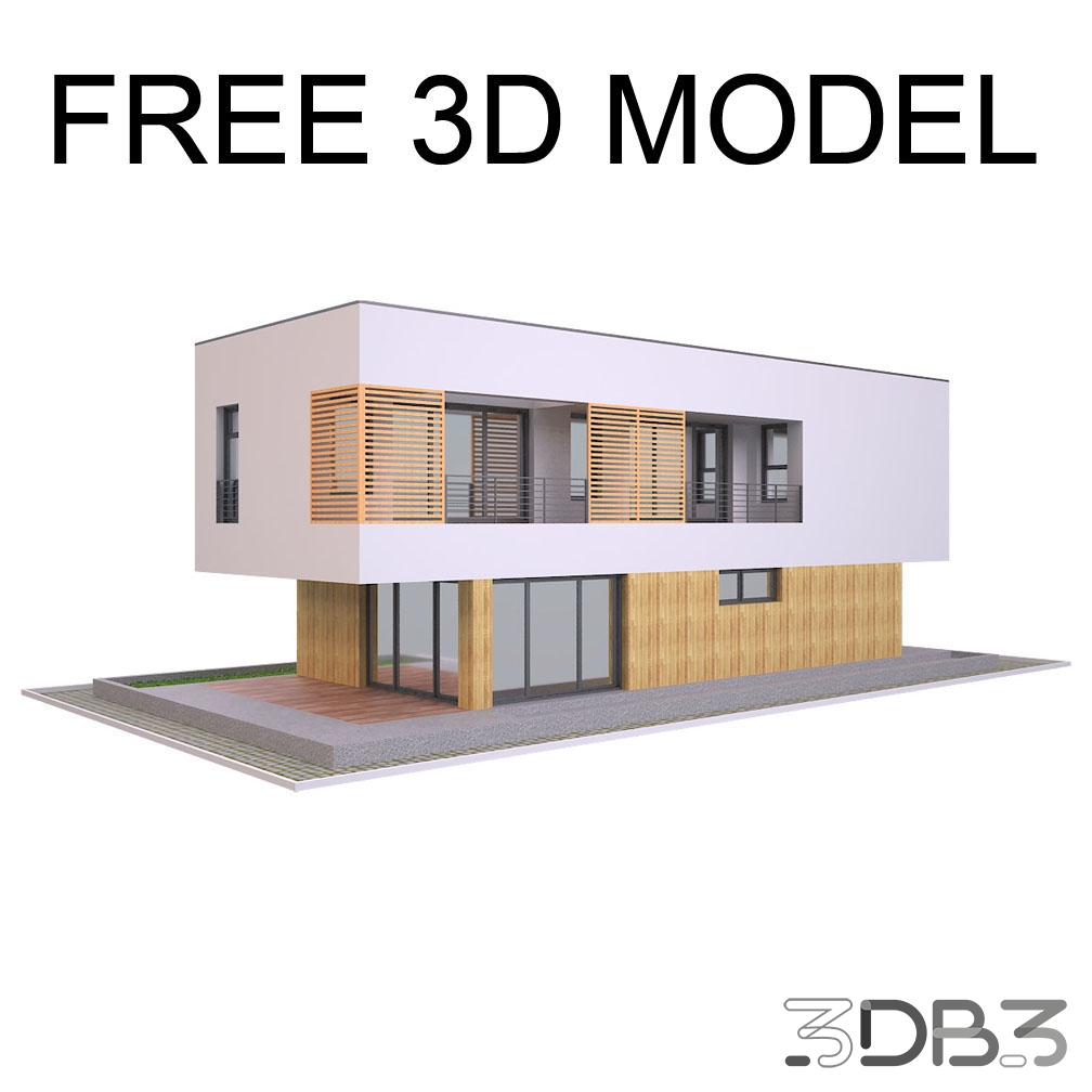 Free 3D Modern Villa